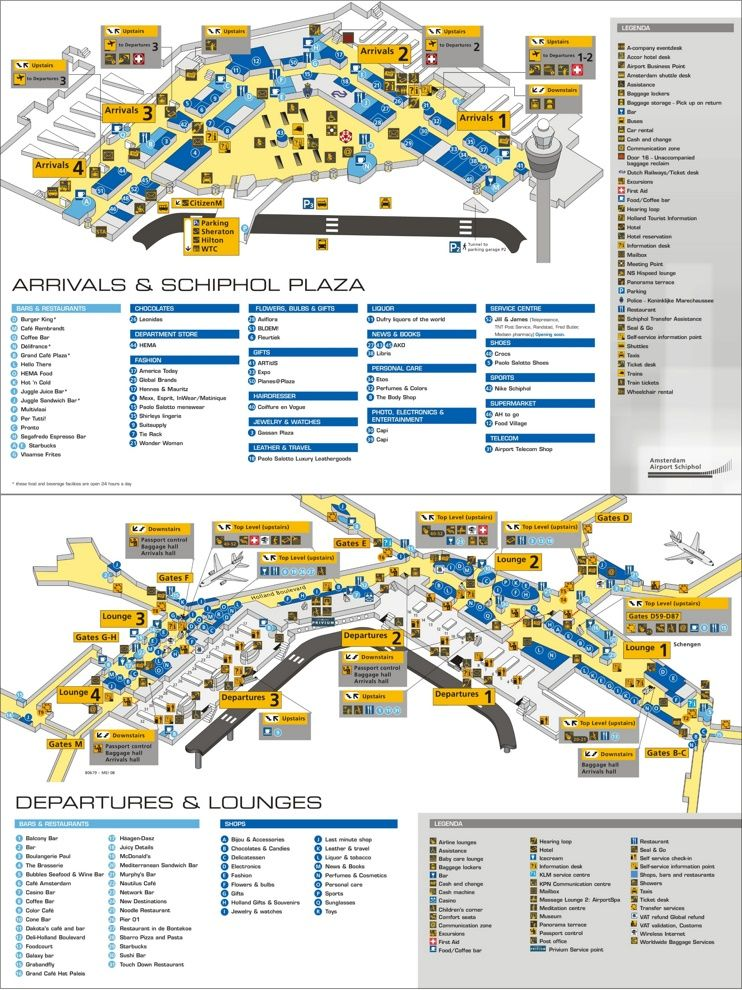 Amsterdam Airport Schiphol Map Amsterdam Airport Schiphol