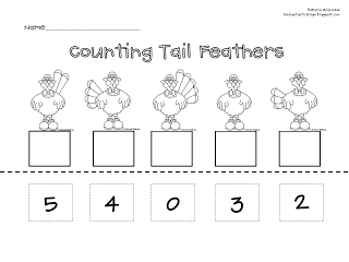 Counting Tail Feathers - The Fantastic Frogs: {Turkey Freebie...}