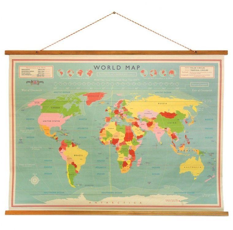 Schoolplaat wereld altijd al de hoofdsteden van de wereld willen world map wall chart on dotcomgiftshop gorgeous gifts and homeware in stunning designs at amazing prices winter sale now on up to off gumiabroncs Gallery