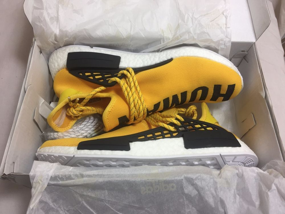 09b1aa198 Adidas PW Human Race NMD Pharrell Williams Yellow BB0619 Size 11.5  adidas   AthleticSneakers