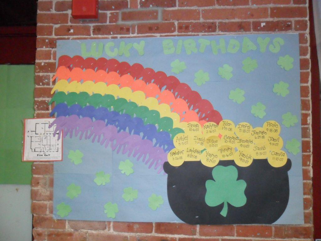 March Lucky Birthdays Board Birthday Bulletin Boards