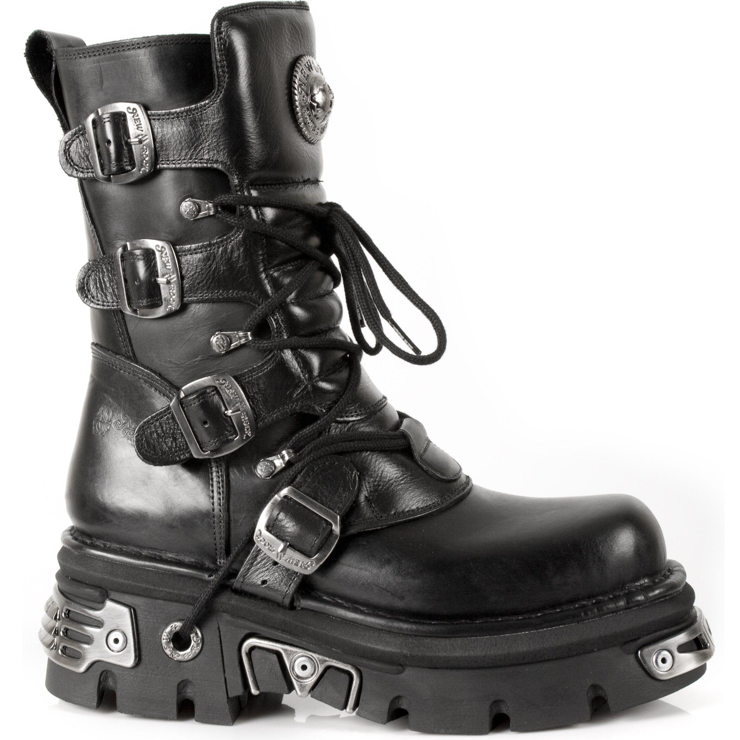Zapatos negros con cremallera New Rock para mujer diCd1lo