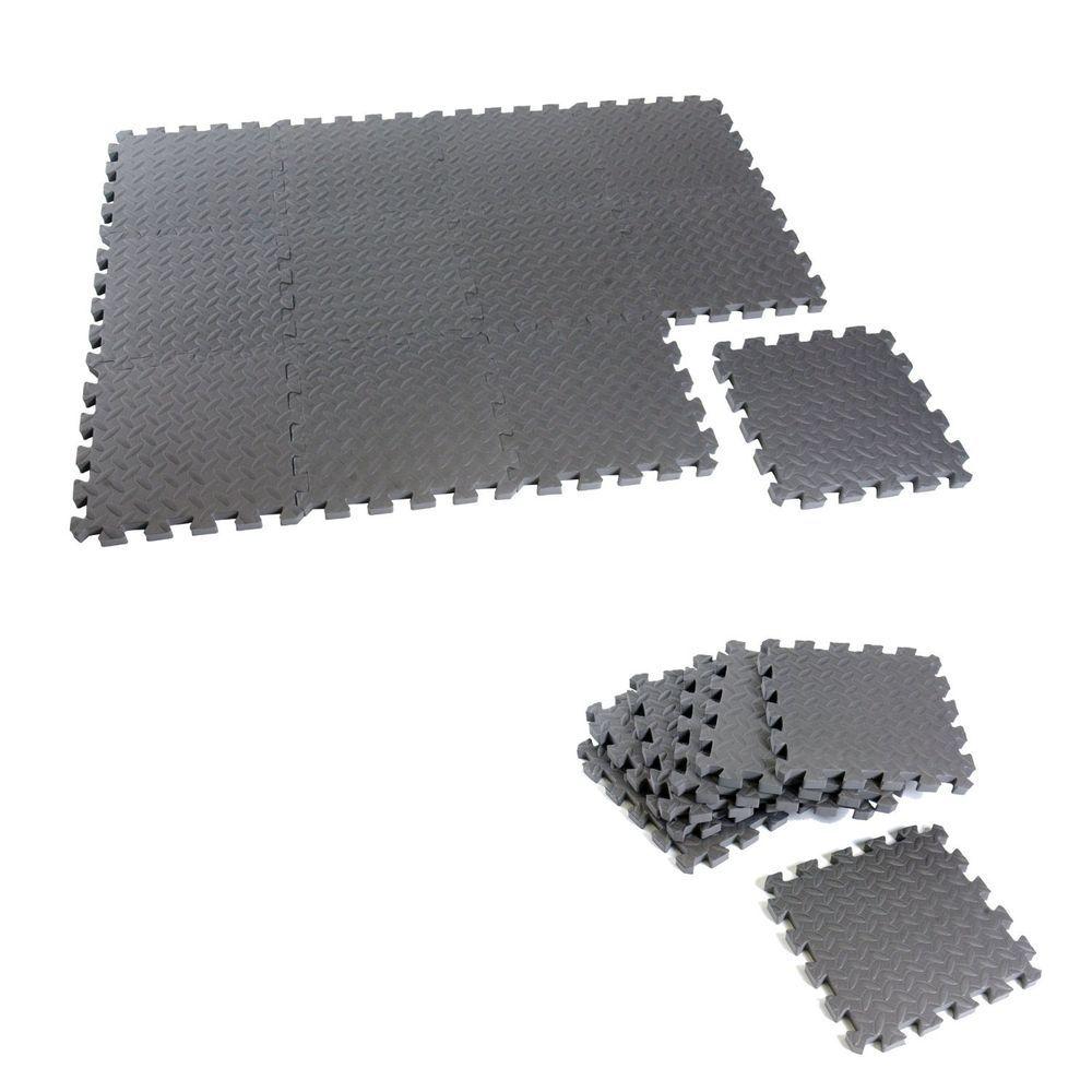 Equipment Mat 12 Piece Puzzle Foam Mats Floor Gym Exercise
