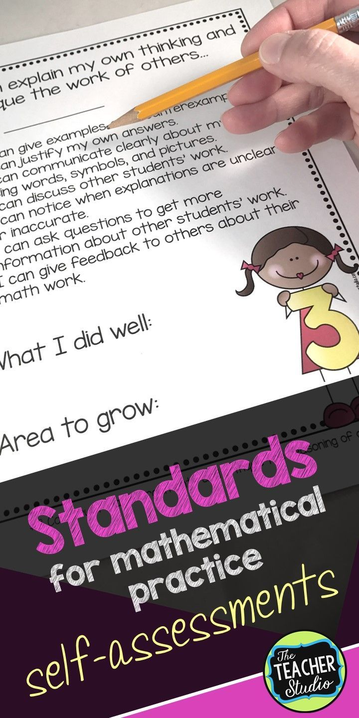 Common Core Math Practice Standards Self Assessment Checklists ...