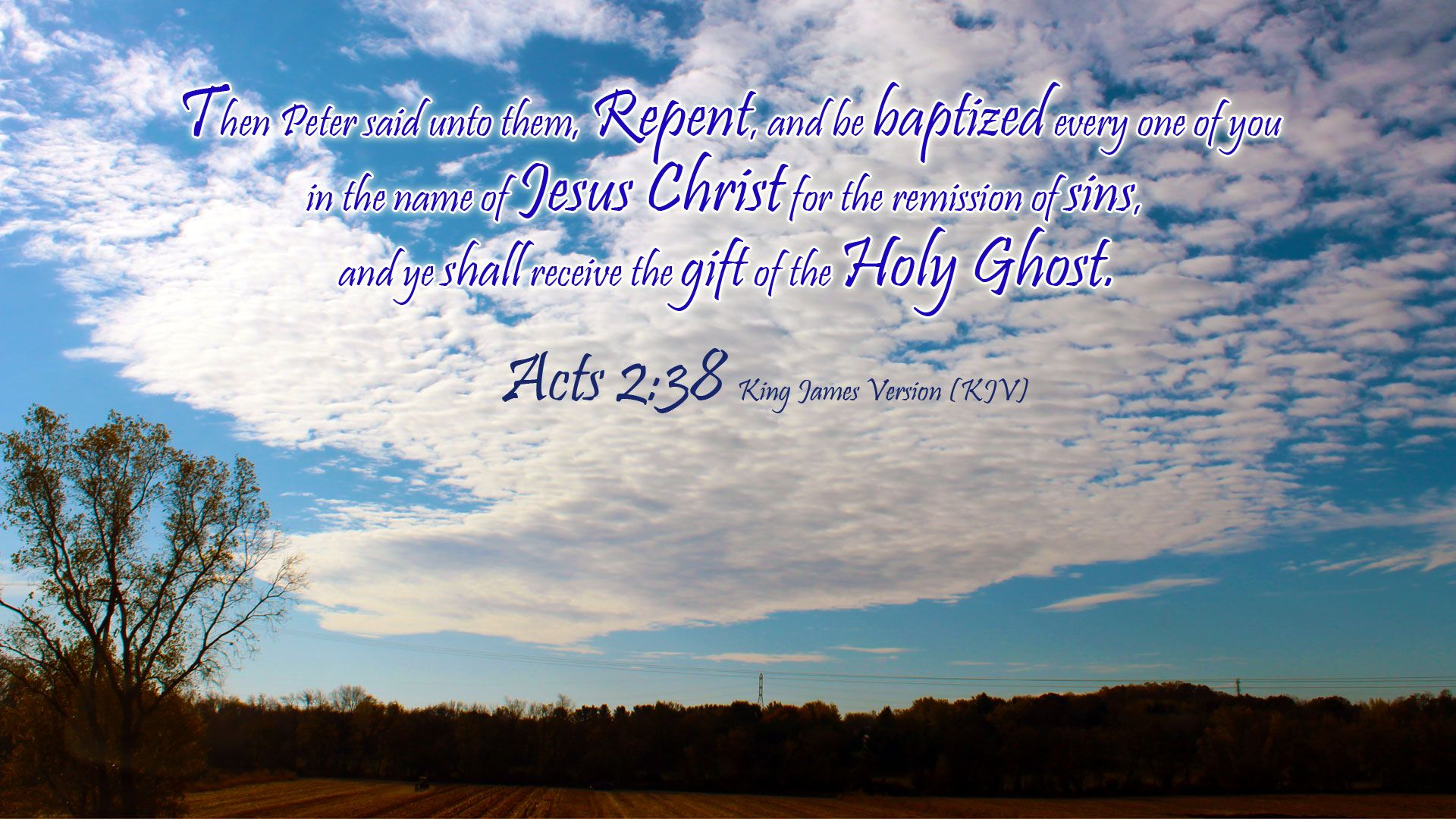 Acts 238 kjv and more blessings names of jesus