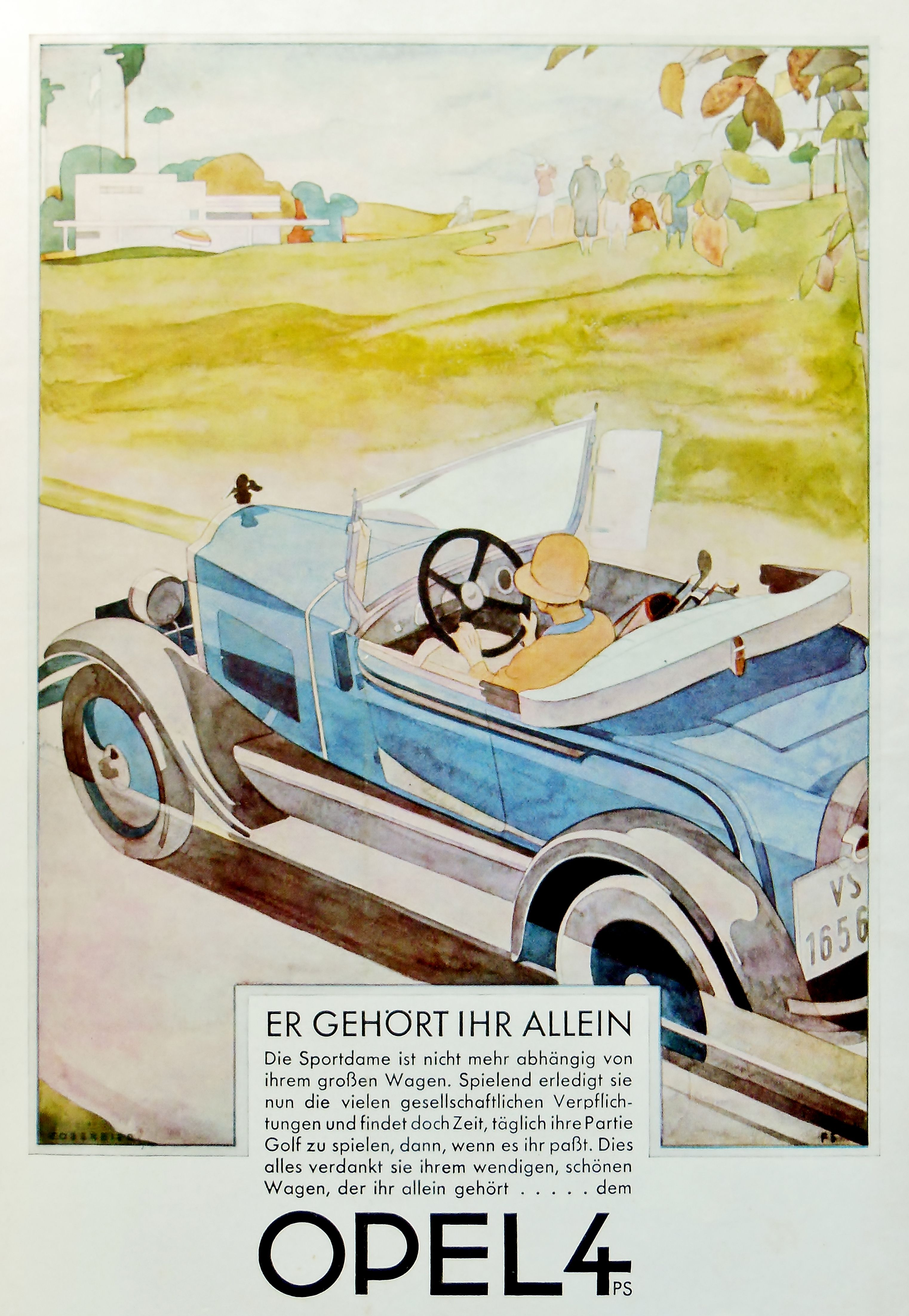 Opel 4 Germany Car Illustration Vintage Cars Car Posters