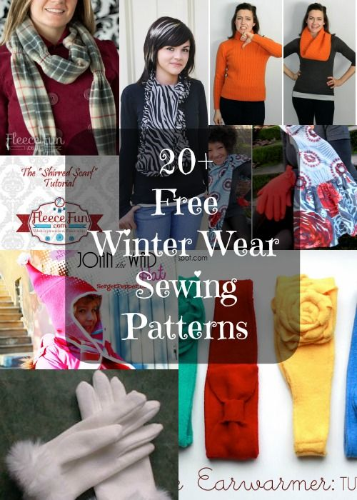 Hats Gloves And Scarves To Sew For Winter Free Sewing Patterns By