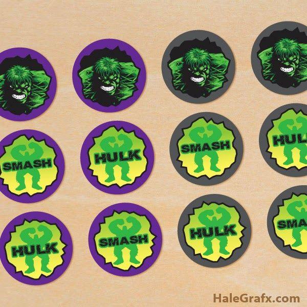 Mini Kit de Hulk para Imprimir Gratis e Imágines. | Ideas y material ...