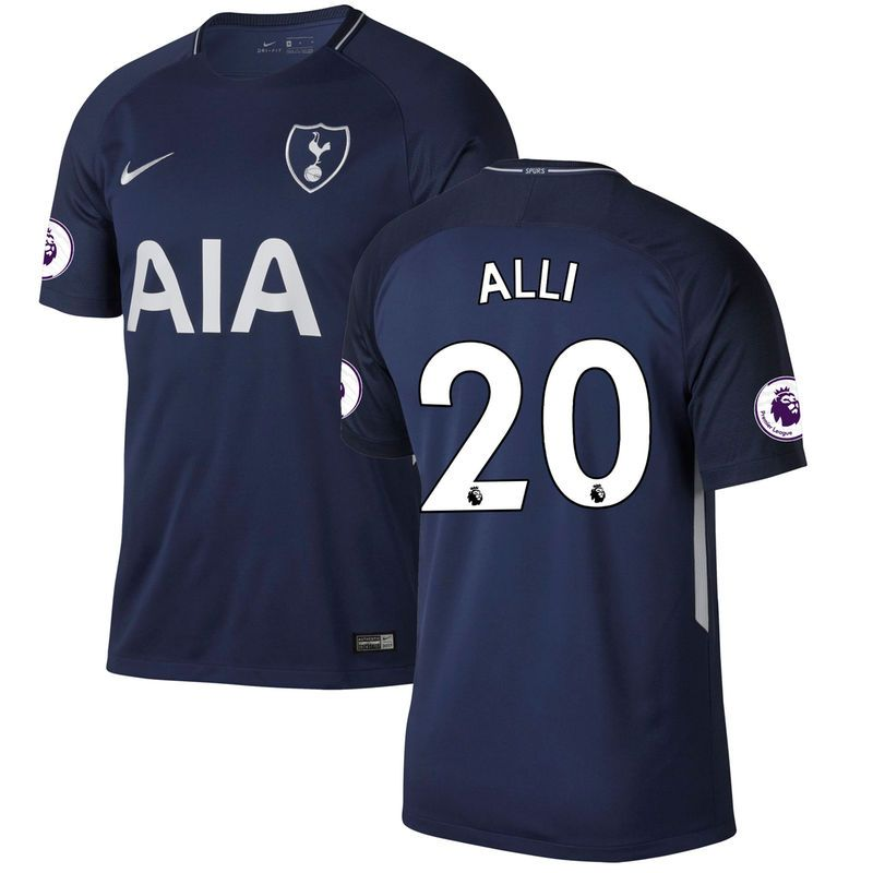 2d96dfc74b Dele Alli Tottenham Hotspur Nike 2017 18 Away Replica Patch Jersey - Blue