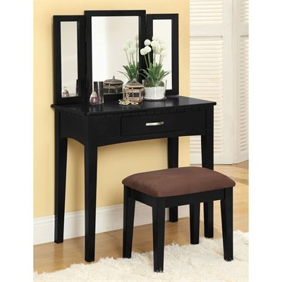 Furniture of America Bedroom Vanity CM-DK6490 Potterville Vanity - Bedroom Vanity Table