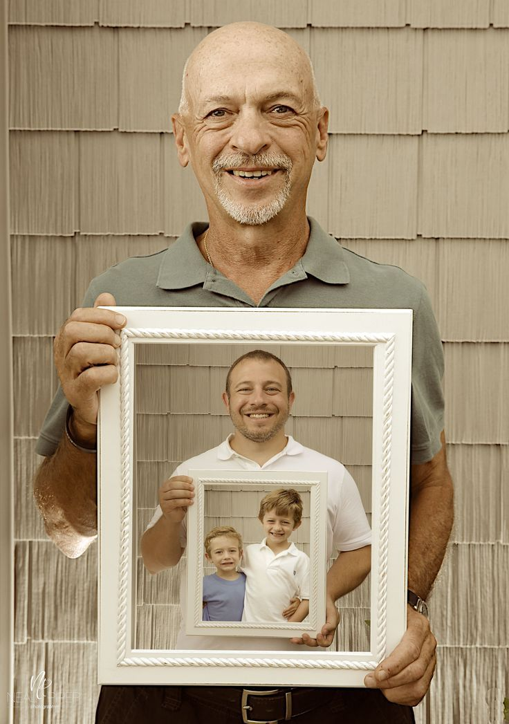 son, father, and grandfather holding picture I want to do this in ...