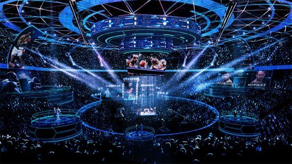 Premier Boxing Champions New Set Event Lighting Design Stage Set Event Lighting
