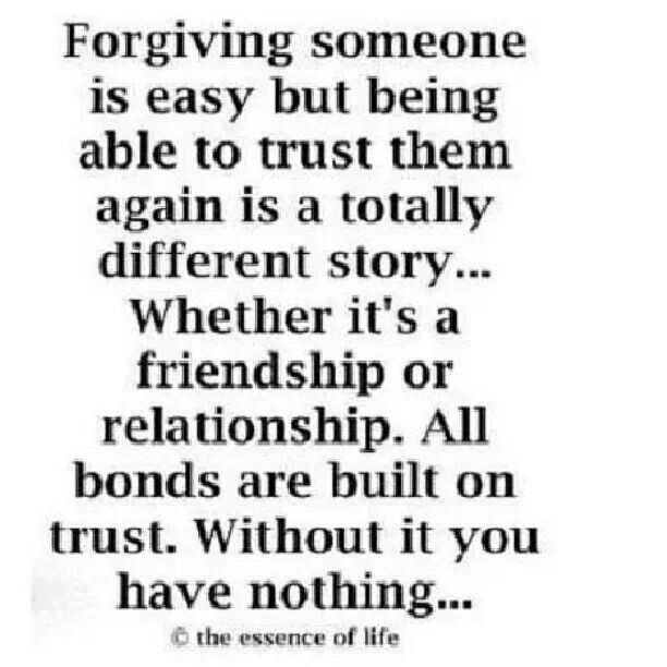 Without trust there is nothing   Quotes   Forgiveness quotes ...
