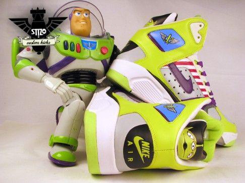 the latest d0345 46733 Toy Story Nike Shoes For Women   ST!ZO Customs  Toy Story Buzz Lightyear  Custom Nike Flight Lite