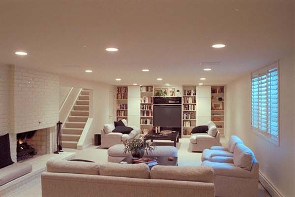 Basement Living Rooms Design ceramic wall ideas  ceramic wall basement renovation ideas image
