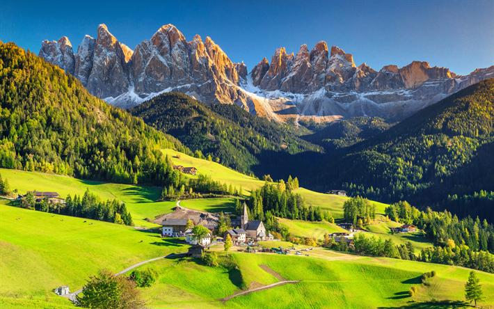 Scarica Sfondi Dolomiti 4k Estate Montagna Italia Europa