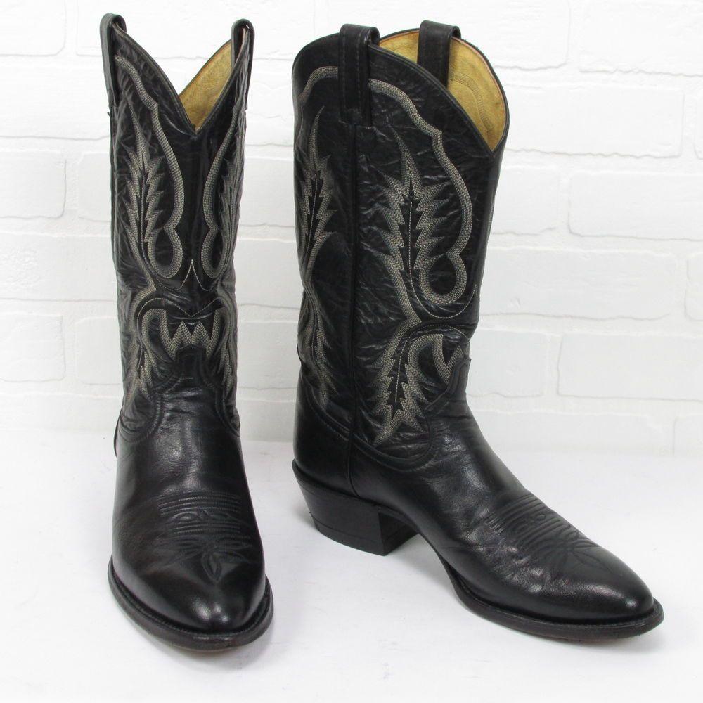 Men's El Caporal Mexican All Leather Cowboy Boots size Mex 27.5 US ...