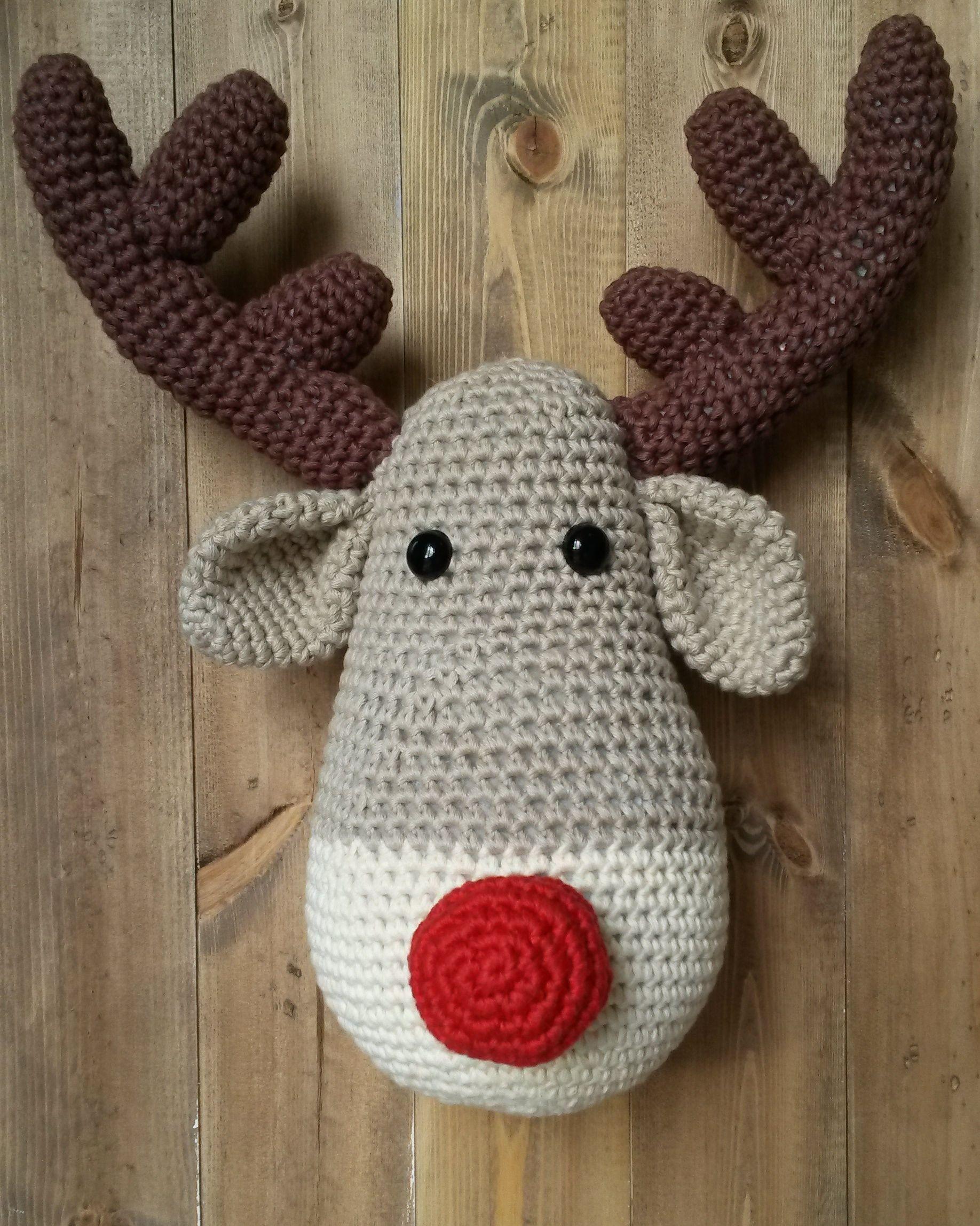 Crochet rudolph the red nose reindeer trophy head httpswww crochet rudolph the red nose reindeer trophy head httpsinstagram bankloansurffo Choice Image