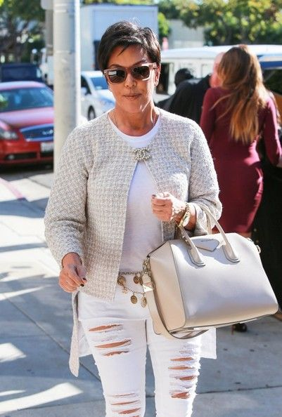 Kris Jenner Photos Photos  The Kardashians Film in West Hollywood ... 966cb36f26b73