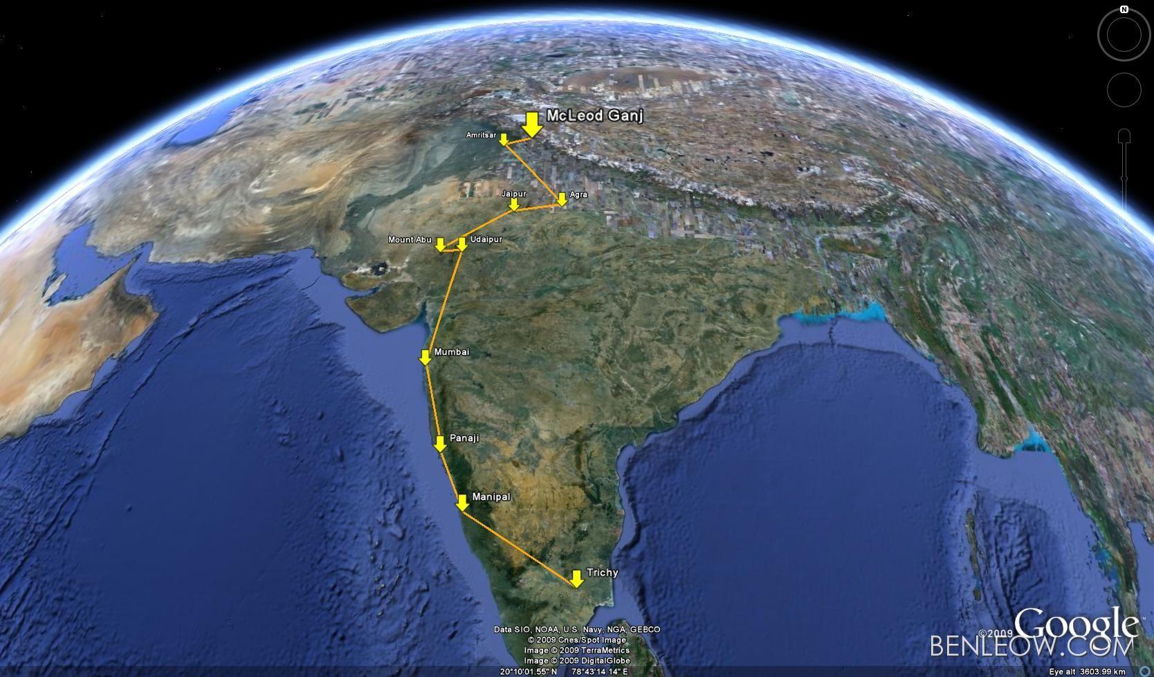 Google Earth-Dharamsala