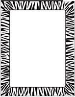 Designer Paper Zebra Border 50 Sheet Package Paper Design Paper Crafts Cards Paper