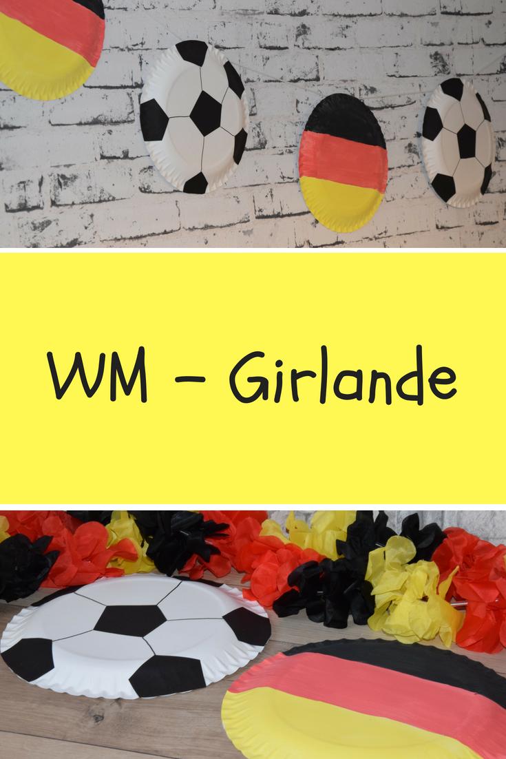 Mit Kinder Eine Lastminute Girlande Fur Die Fussball Wm 2018