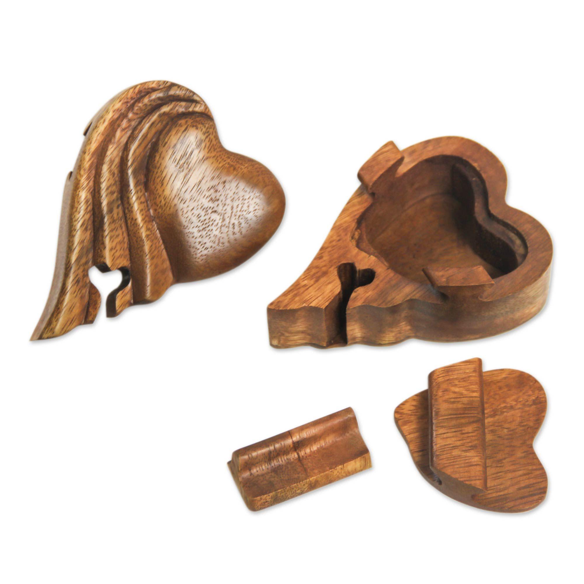 Heart Shaped Wood Puzzle Box Flying Heart Puzzle Box Wood Buy Wood
