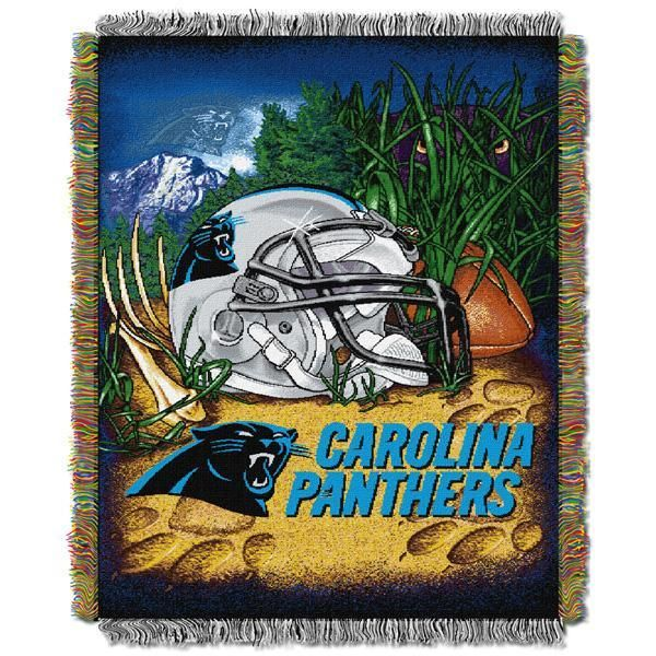"""Carolina Panthers NFL Home Field Advantage 48""""x 60"""" Woven Tapestry Throw"""