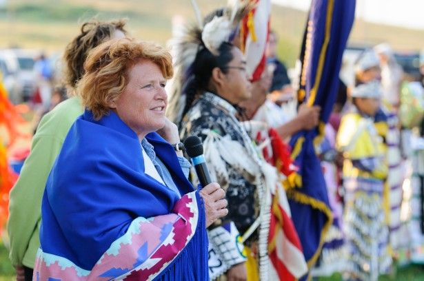 Image result for photos heitkamp native americans