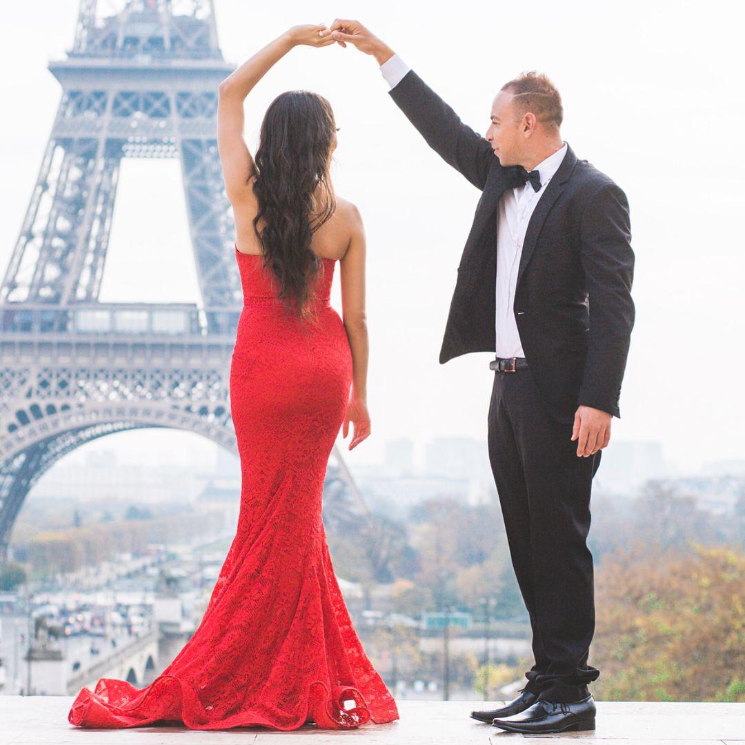 Charming lace prom dress red mermaid prom dresses fashion