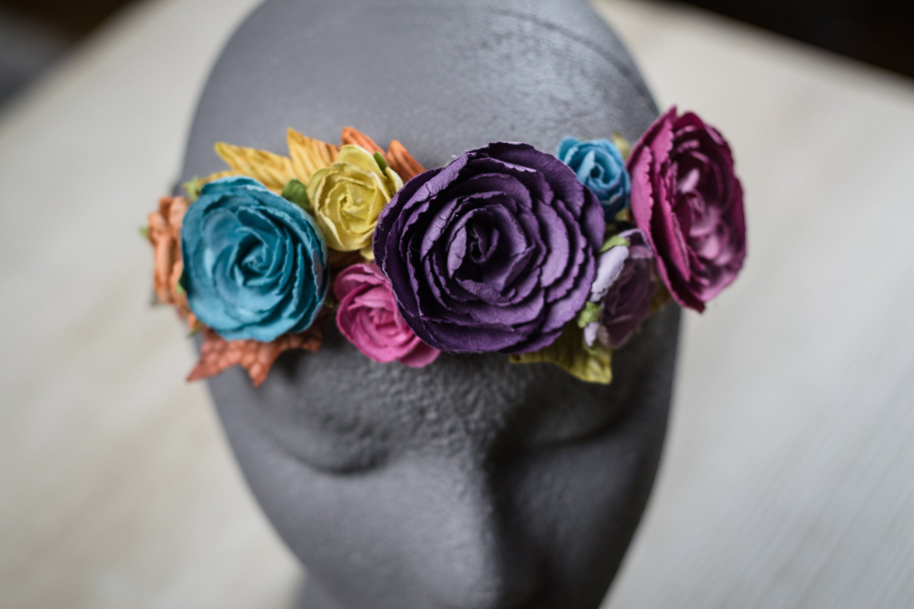 Baby girl floral headband multicolor 12 months etsy