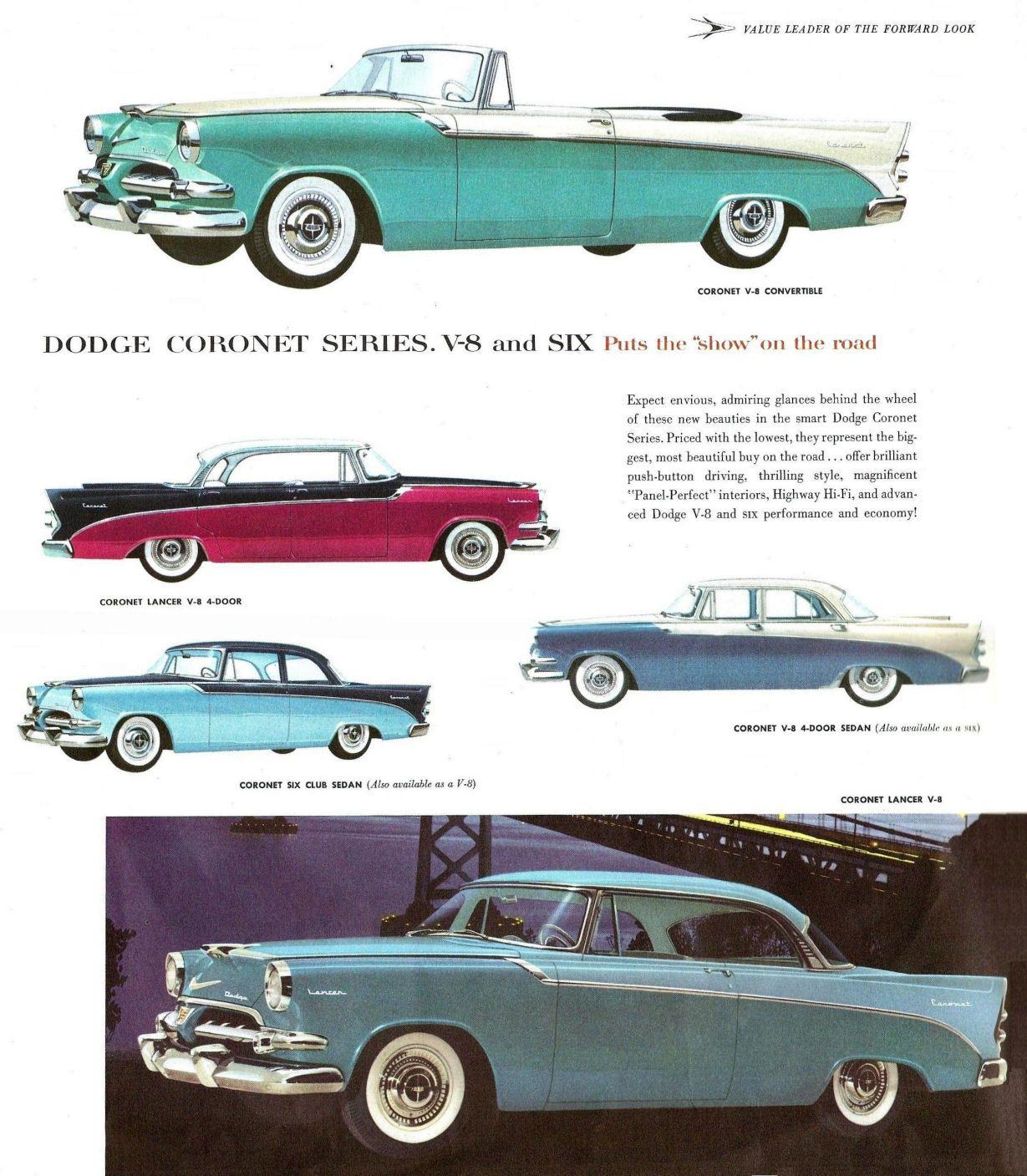 1956 Dodge Coronets | Dodge: 1956 - 1959 | Pinterest | Dodge coronet ...