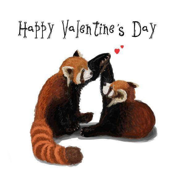 Personalised Red Pandas Birthday Card For Girlfriend Boyfriend Fiance Fiancee Husband Wife Partner Friend Bestie Cute Special Red Panda Red Panda Baby Red Panda Cute