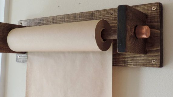 Wall Mounted Butcher Paper Roll By Huelabdesigns On Etsy Butcher Paper Craft Room Office Christmas Projects Diy