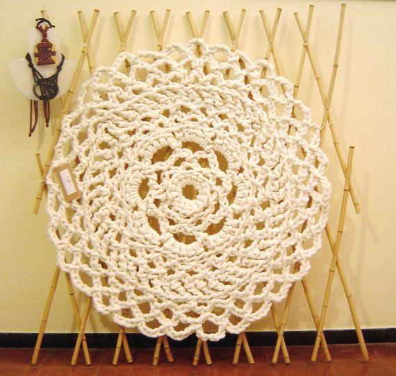 Uncinetto centrino gigante tappeto di corda, Made in Italy, by ...