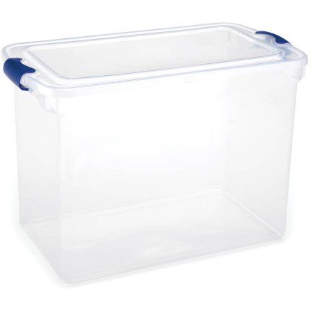 Decorative Plastic Storage Boxes With Lids Buy Homz 112Qt Latching Clear Storage Boxes Set Of 2 At Walmart