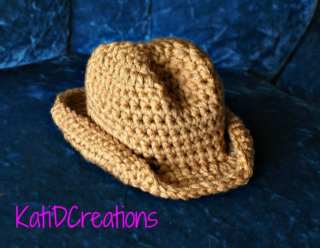 Cowboy Hat Crochet Pattern for Newborn - FREE Pattern ...