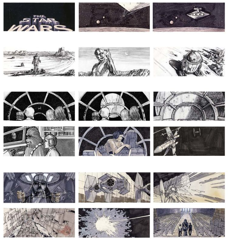 Storyboard For Star Wars  Storyboards    Storyboard