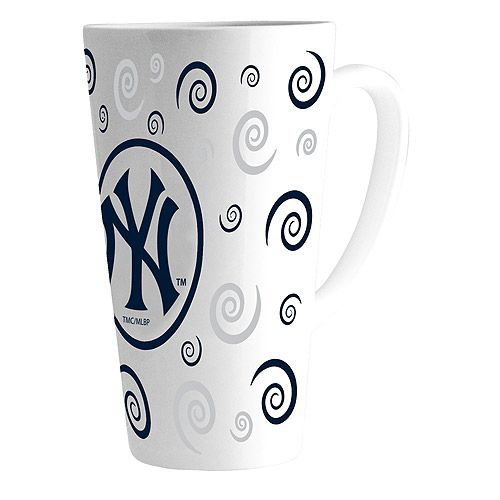 New York Yankees 16oz Latte Mug Mlb Com Shop New York Yankees Yankees Mugs