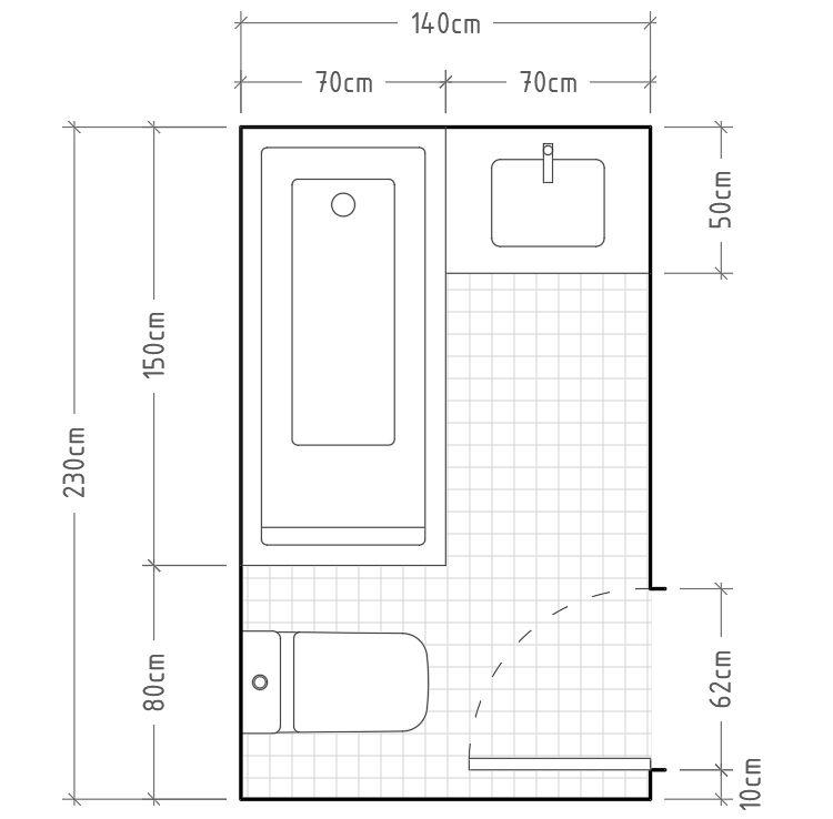 C mo dimensionar correctamente un ba o distribuciones - Inodoro y lavabo en uno ...
