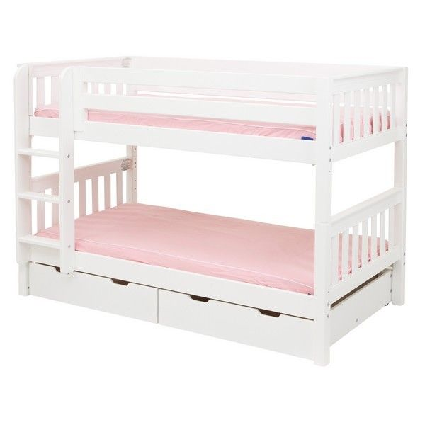 Twin Low Bunk Bed In 2020 Girls Bunk Beds Bunk Beds Low Bunk Beds