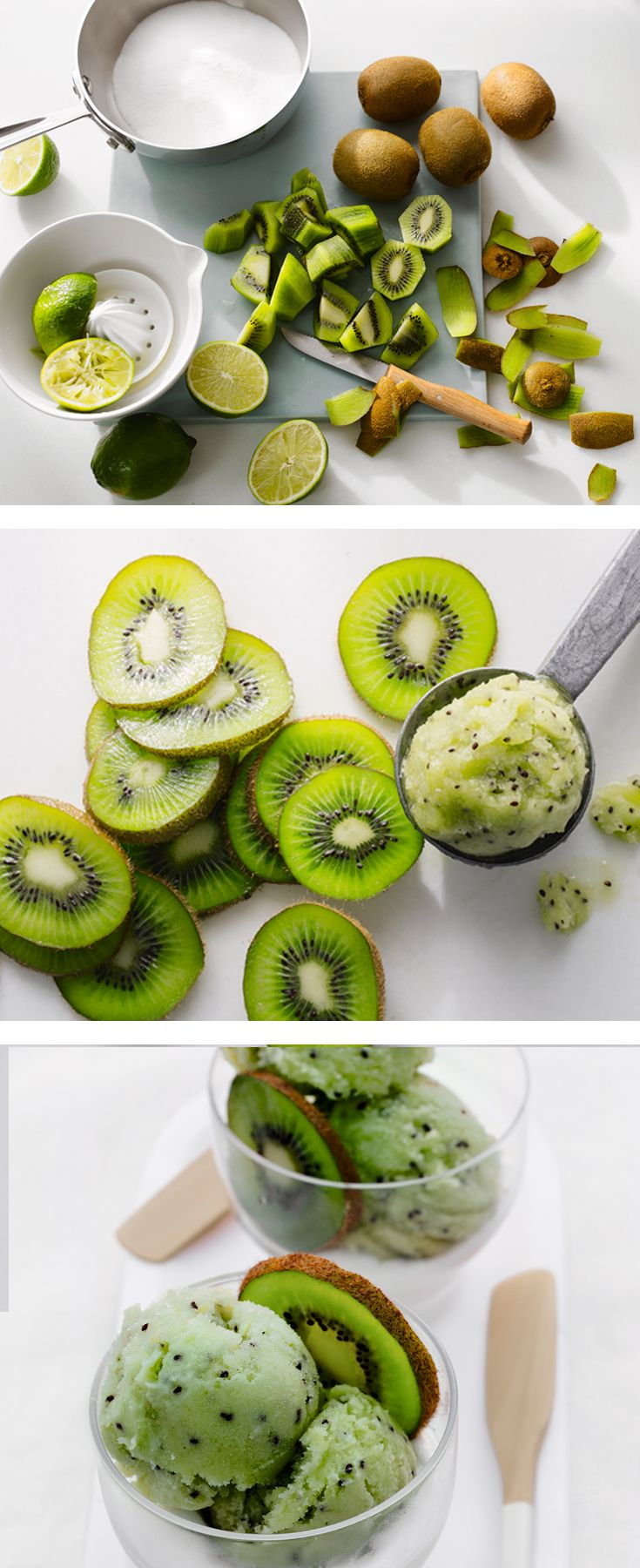 Who wants a bite of our cooling kiwi sorbet? Serve this delicious recipe with coconut yogurt and fresh kiwi slices for a fun dessert.
