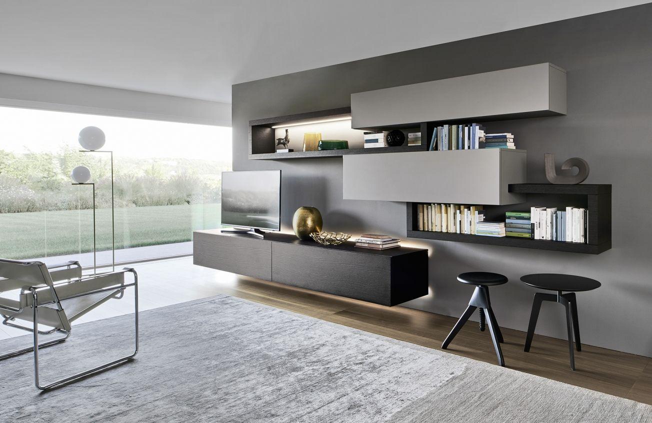 This Contemporary Kronos S808 Multimedia Unit Has Integrated Led  # Deco Table Tele Plus Homecimema