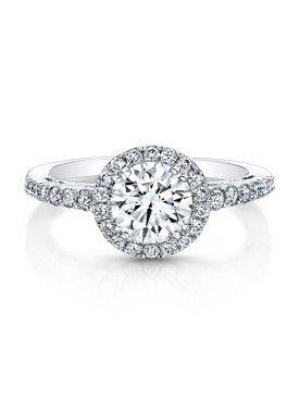 ROUND DIAMOND HALO ENGAGEMENT RING Raffi jewellers | I do