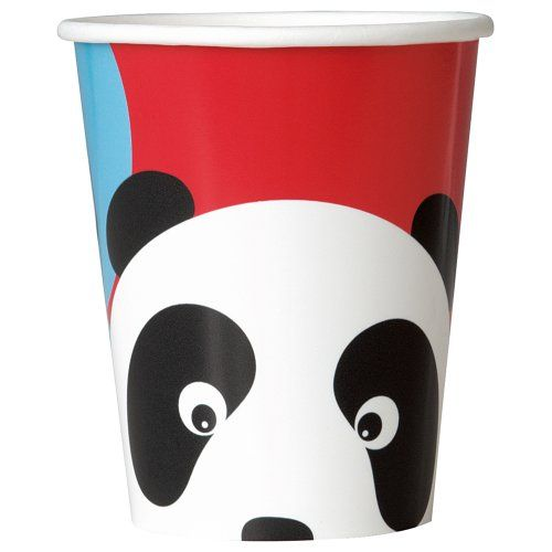 9-Ounce Birthday Panda Paper Cups (8 Count), Multicolor  Bought at Amazon for under $2.00