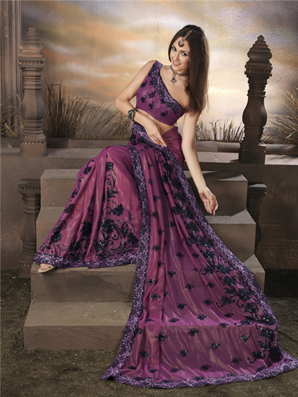 pretty purple saree