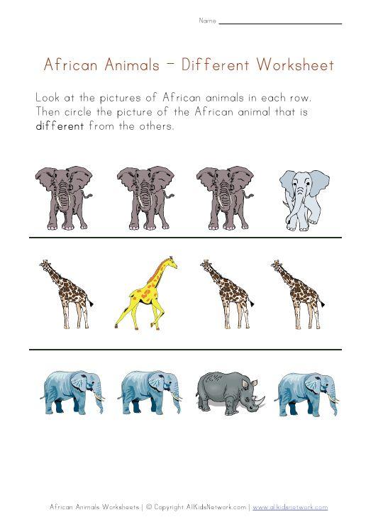 Fantastic African Animal Worksheets Esp Useful If Ur Off To A Safari