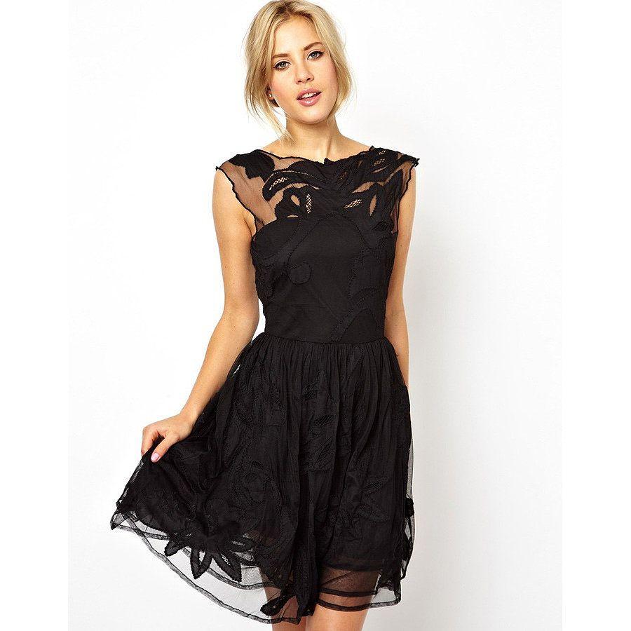 Bridesmaids black lace party dress lace party dresses