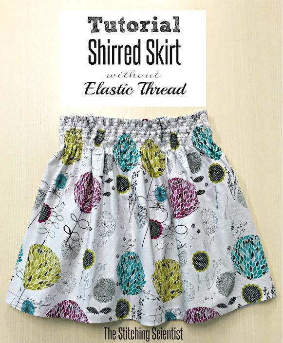 Shirred Waistband Skirt without Elastic Thread | sewing | Costura ...
