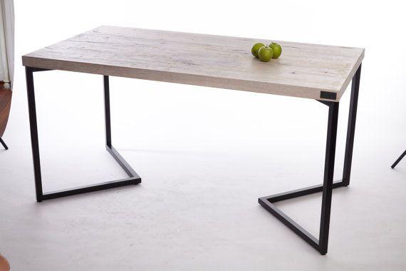 Mesa de comedor madera de roble con efecto antiguo por IscusitShop